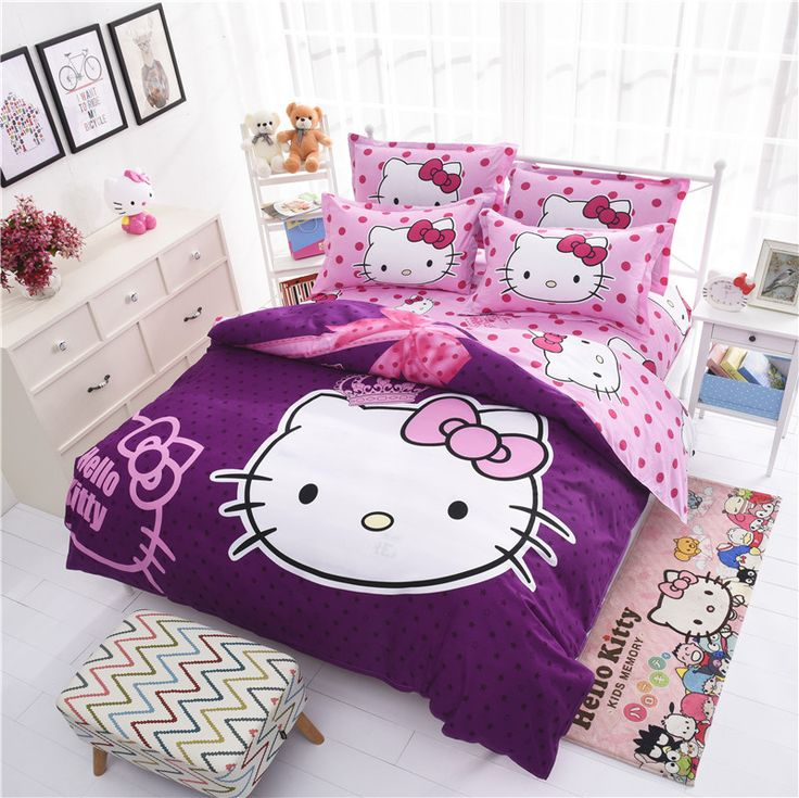 Best 25 hello kitty bedroom ideas on pinterest hello for Housse couette hello kitty