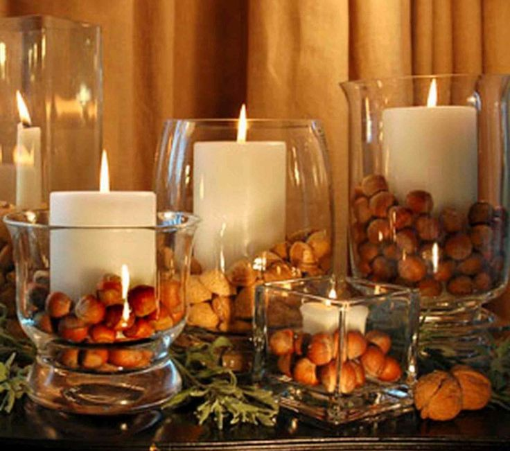 Ideas. Ideas. Fabulous Party Table Centerpiece Decoration Designs. Christmas Party Centerpiece Home Decoration With Granite Top Table Featuring Freestanding Clear Glasses Candle Holder Plus Peanuts And White Candles. Party Table Centerpiece Decoration. Fabulous Party Table Centerpiece Decoration Designs