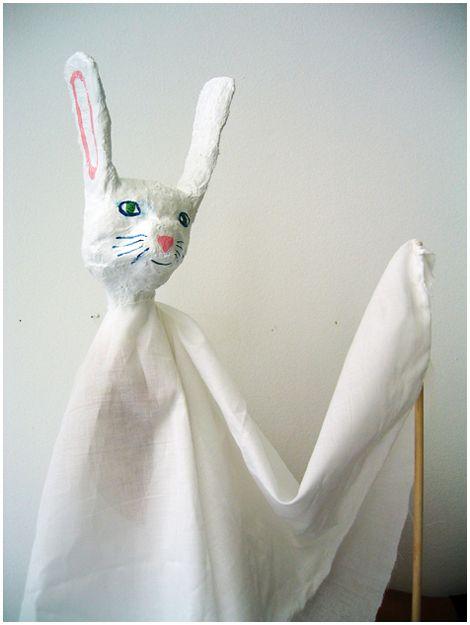 papier-mache puppets