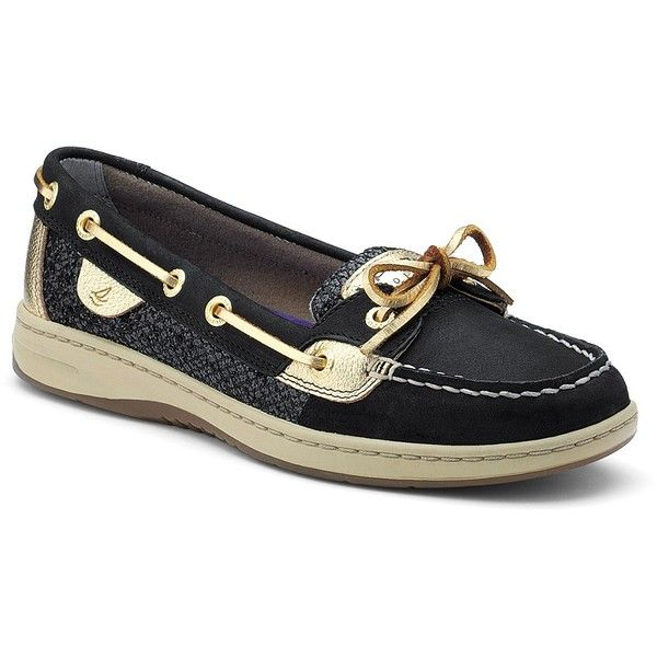 Black Sequin Boat Shoes June 2017