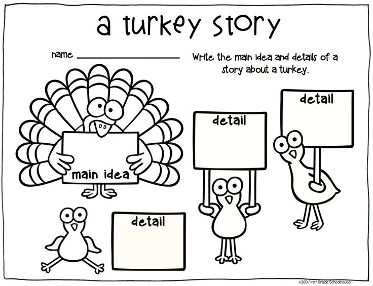 Thanksgiving Writing for Firsties. First Grade writing activities with a Thanksgiving theme.