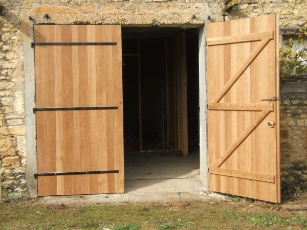 Porte De Grange En Bois Recherche Google Porte De Garage Pinterest - Porte garage bois