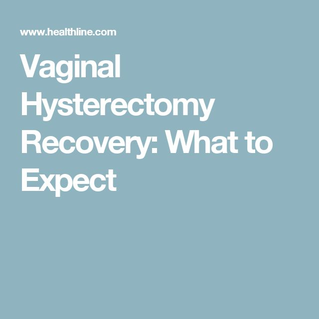 Vaginal Hysterectomy Recovery What To Expect