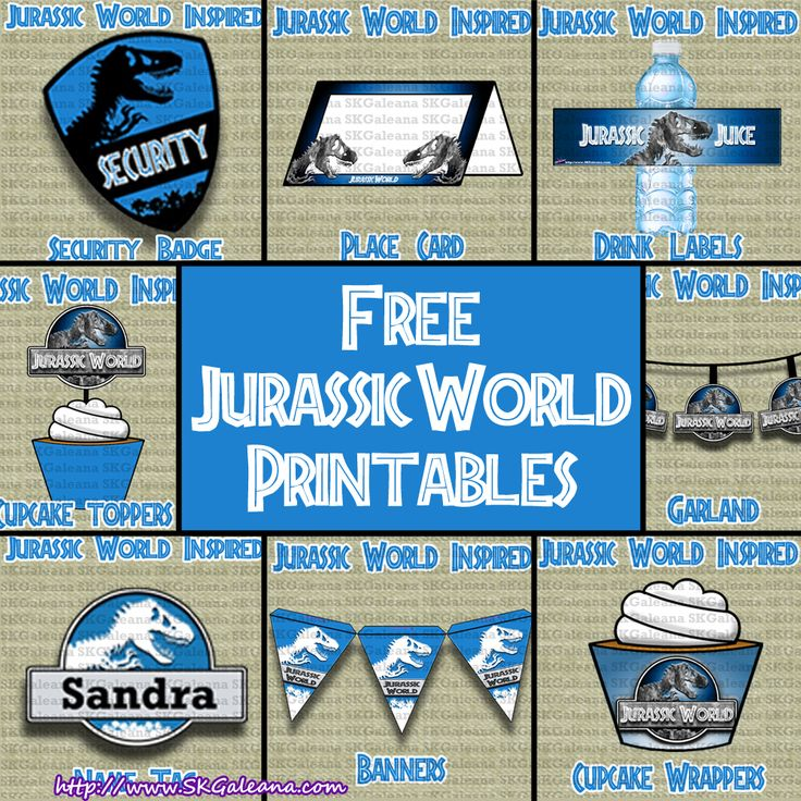 Free Jurassic World Printables By Skgaleana Jurassic