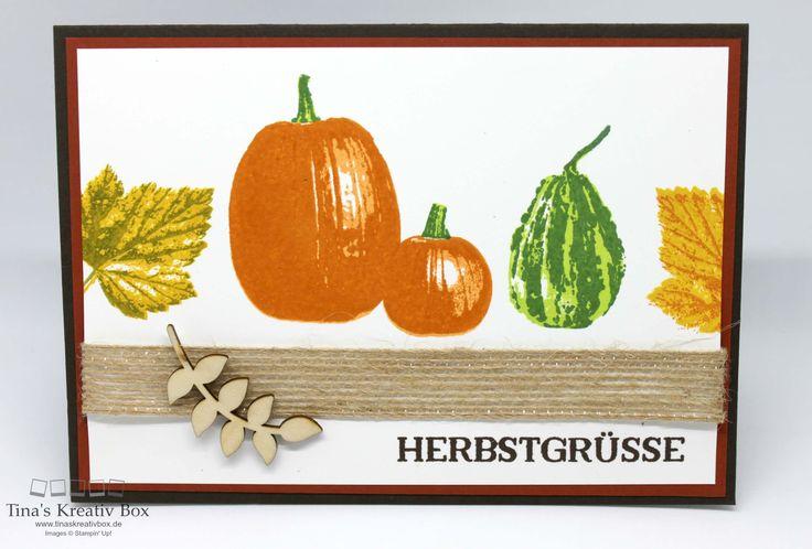 Herbstliche Karte mit Kürbis - mit Produkten von Stampin' Up!