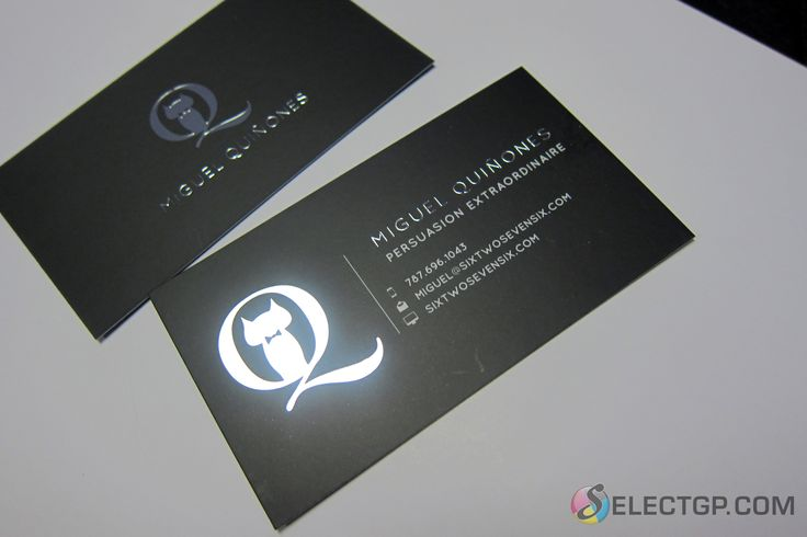 17 best business cards impress with the best images on pinterest black silk business card with silver foil logo for a graphic designer silverfoil reheart Choice Image