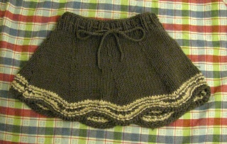 How cute is this knit baby skirt made in Cotton-Ease? We're in love!
