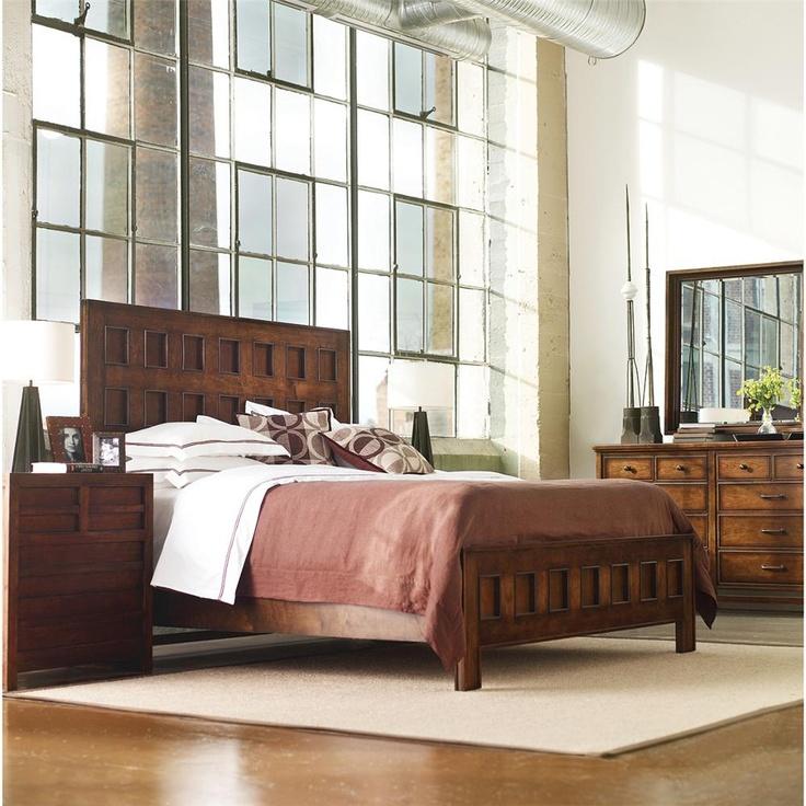 Modern Craftsman Mission Archive Bed   Beds   Bedroom And Bath   Furniture