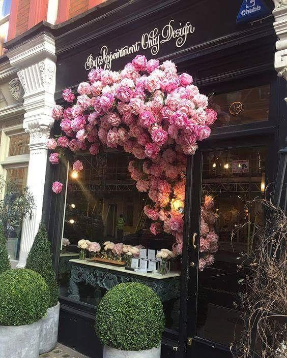 Rich Kids Spotted   Image / Video  **Window Dressing Wisdoms** This stunning window By Appointment Only Design is literally 'in bloom' on Chiltern Street, London. The flowers are beautifully crafted in paper and seem to be growing from within the display inside, to the front of the...