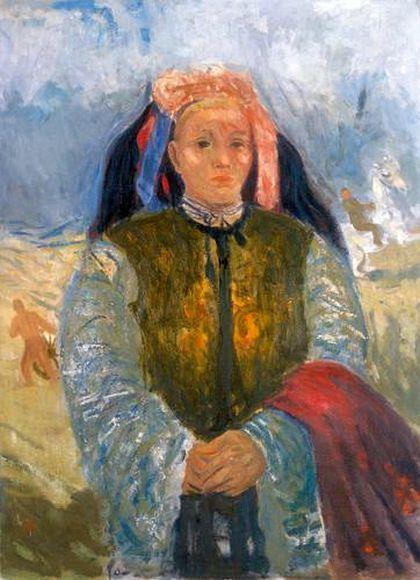 Bernáth, Aurél (1895-1982) Maid on the Puszta (Herdgirl, Peasant girl), 1936-1937