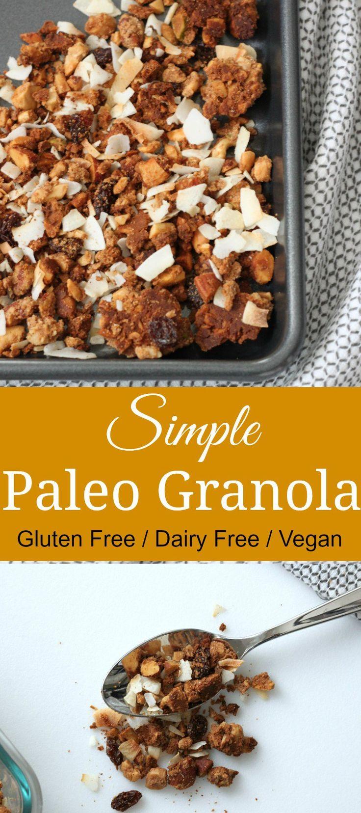 Easy to make & delicious paleo granola. #paleorecipes #paleo #healthyliving