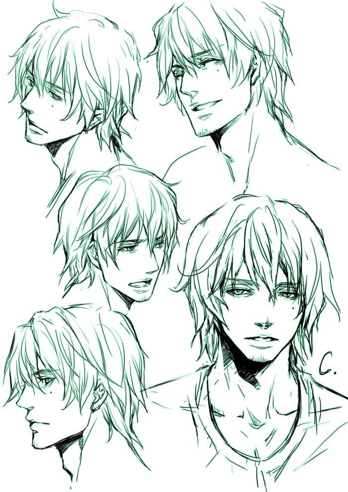 anime male face - 700×990