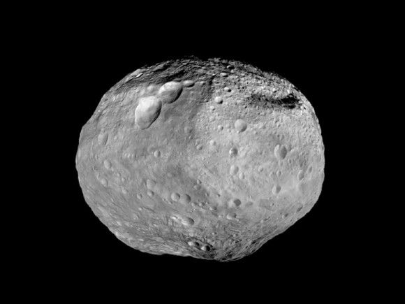 Dawn's look at asteroid Vesta as the spacecraft heads off to Ceres. Image credit: NASA/JPL-Caltech/UCAL/MPS/DLR/IDA