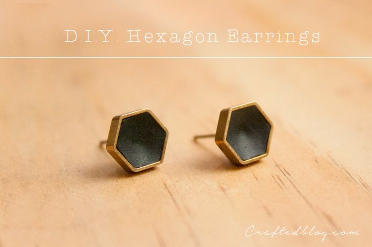 Crafted: Easy D.I.Y. Hexi earrings #jewelry #tutorial #howto