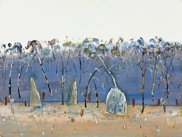 FRED WILLIAMS (1927 – 1982) WEIPA LANDSCAPE, c1978  gouache on paper 57.0 x 75.5 cm