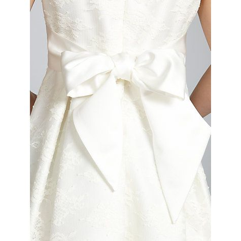 Buy John Lewis Girl Empire Line Lace Bridesmaid Dress, Ivory Online at johnlewis.com