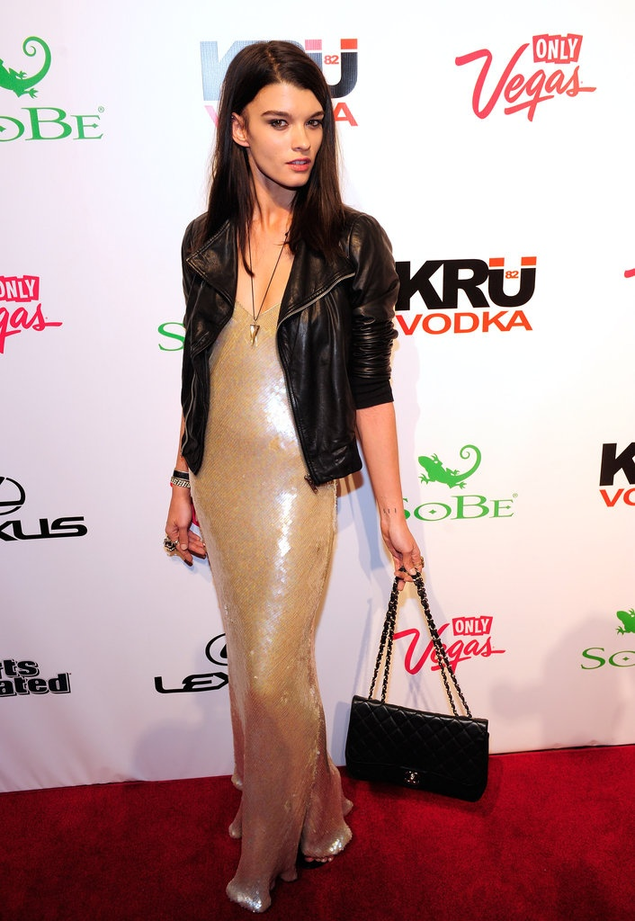 Crystal Renn at a Sports Ilustrated event in Las Vegas, February 2012.