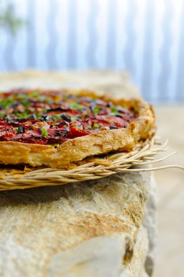 Быстрый томатный пирог