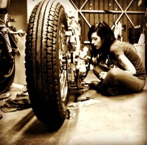 Girl working on her bobber