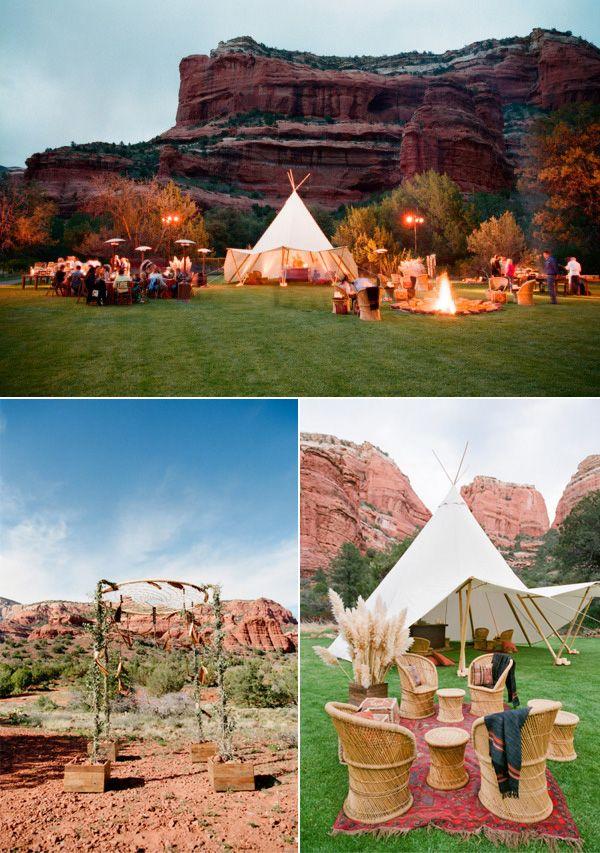 boho themed rustic wedding ideas in Sedona Arizona