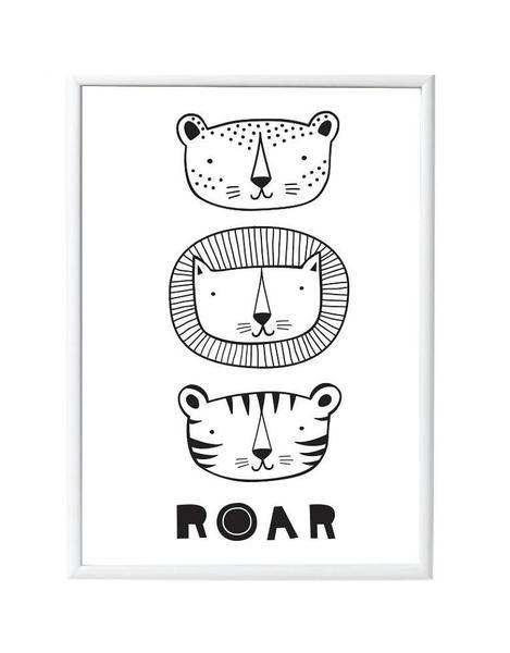 Prachtige poster met een stoere tijgers met de tekst 'Roar'. Zo leuk voor elke kinderkamer of speelkamer!De poster is 50 x 70 cm en is gedrukt op mooi kwaliteit