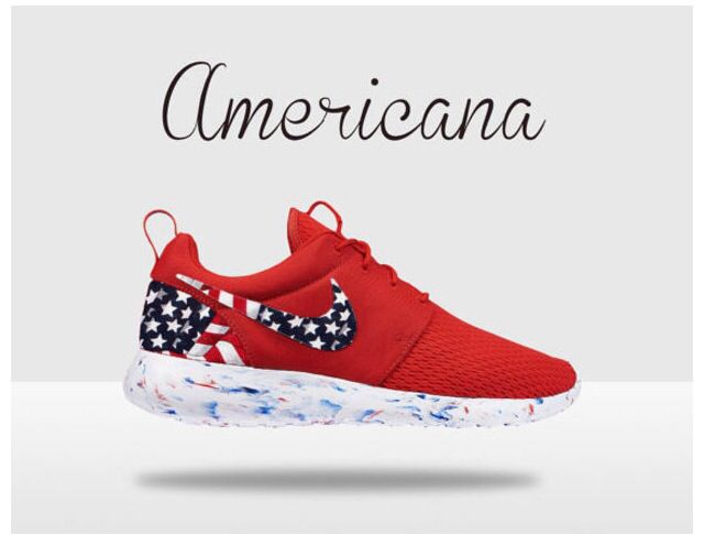 Sick custom american flag nikes!