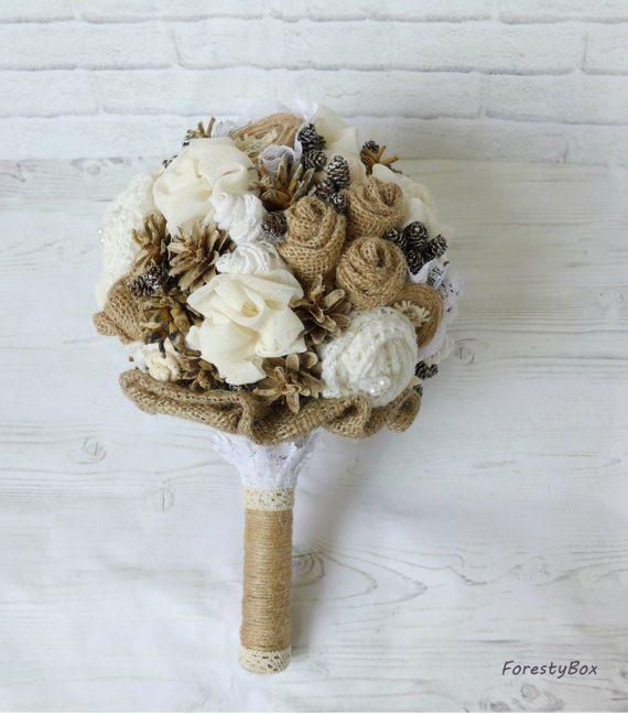 Boho matrimonio bouquet inverno sposa bouquet Keepsake bouquet