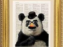 Panda illustrazione, pagina dizionario