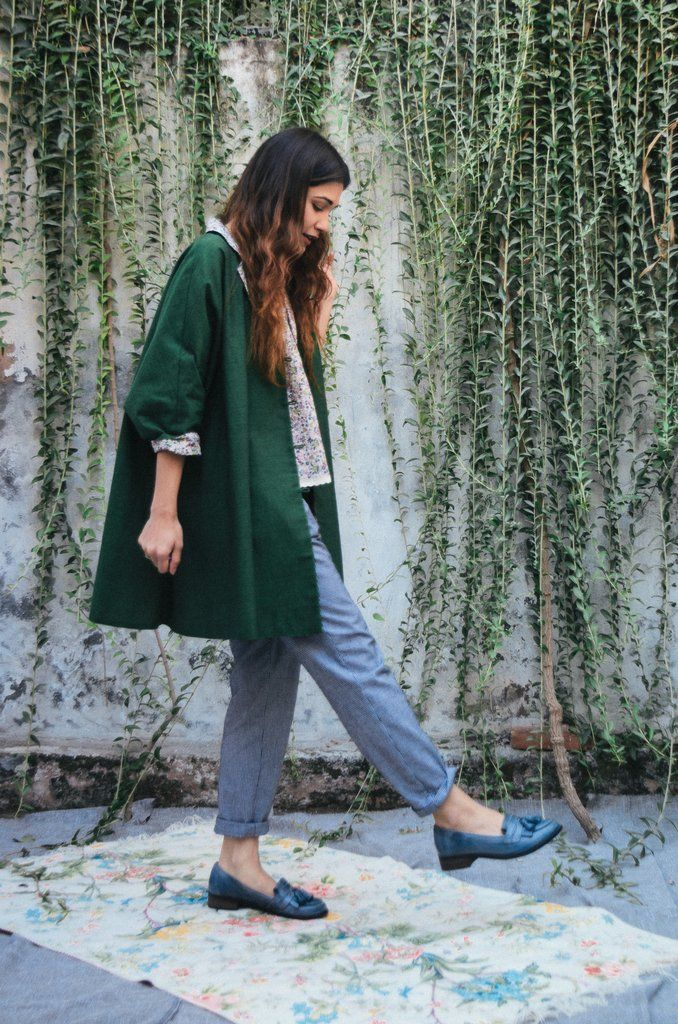 """Jackets just touched a new dimension. If comfort and cozy is your one true love, then this oversized emerald kimono jacket is just what your wardrobe needs. STYLE TIP:team it with tank, or swaddle over a dress.DETAILS -Woven cottonwith contrast vintage chintzinner lining-Hand dyed 