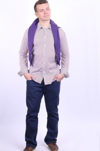 GAP Clothing Mens XL Casual Shirt Striped Cotton White - RetrospectClothes