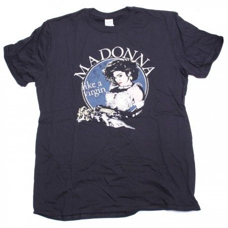 Madonna T Shirt - Like A Virgin Retro Print 100% Official from Old Skool Hooligans T shirts