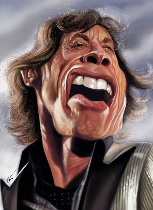 Caricature Mike Jagger