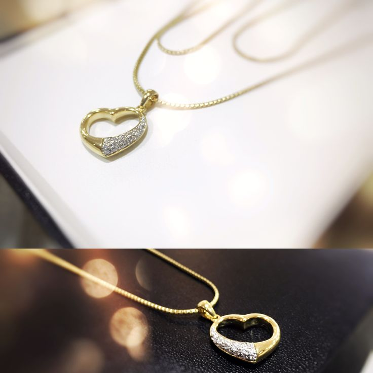Whole lot a love  Heart necklace 18ct gold and diamonds
