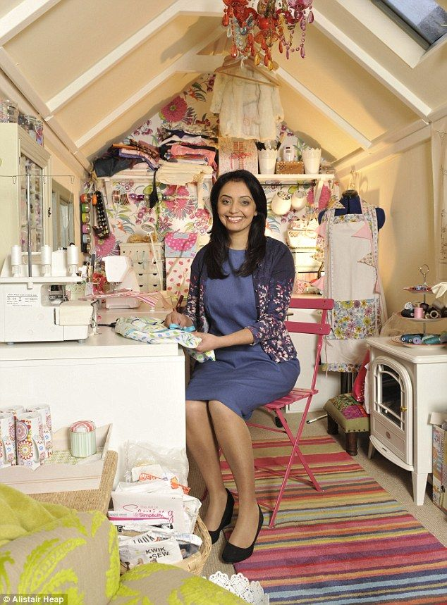A Glamorous Sewing Room on the inside!
