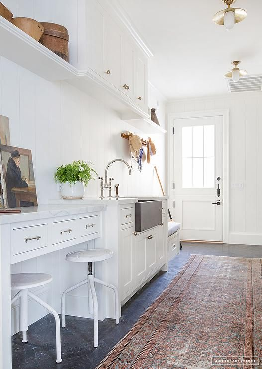 25 best ideas about white shiplap on pinterest shiplap for Bathroom mudroom combo
