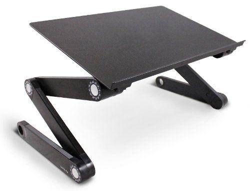 Lavolta DJ Laptop Stand Table Desk Tray for DJ Mixer Controller Turntable Amplifier Karaoke Machine CD MP3 MIDI Player - Folding Adjustable-Angle Legs - Black - http://mixingmastering.co.uk/lavolta-dj-laptop-stand-table-desk-tray-for-dj-mixer-controller-turntable-amplifier-karaoke-machine-cd-mp3-midi-player-folding-adjustable-angle-legs-black/