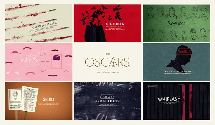 Best Picture Oscar Nomination Title Sequence - 2015. title sequence design - motion graphics