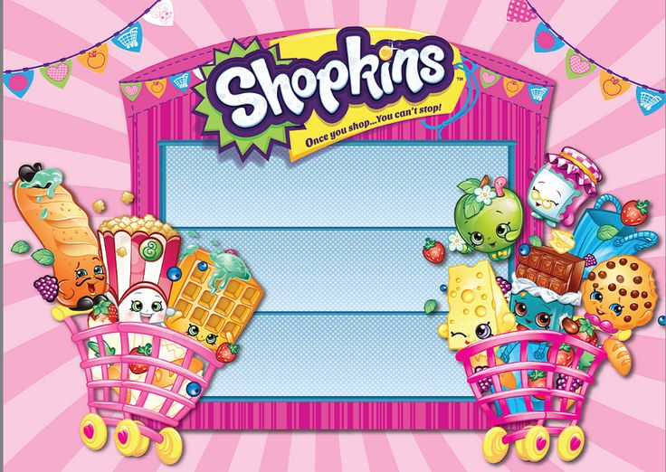 5x7FT Shopkins Toys Season Shop Cart Pennants Flags Stage Custom Photography Studio Backdrops Backgrounds Vinyl 220cm x 150cm