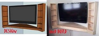 Floating Corner Entertainment Center | Do It Yourself Home Projects from Ana White