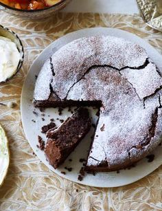Chocolate and almond torte, by Theo Randall. A brilliant gluten free bake that is perfect for Easter.