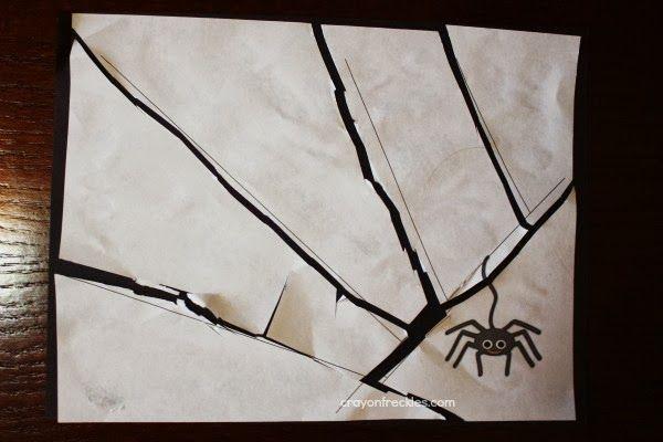 Taches de crayon: Save the Spider {la pratique de coupe préscolaire}