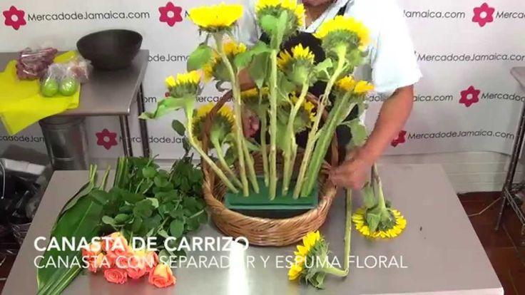 FLORERIAS DF ARREGLOS FRUTALES CON GIRASOLES