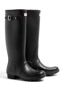 94 Hunter black original tall classic boots