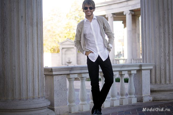 Уличная мода: Мужская уличная мода: Адам Галлахер и Питер Эдриан