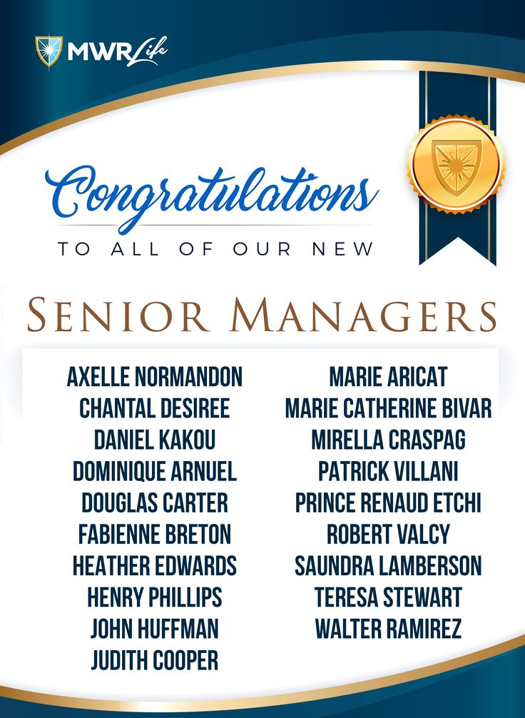 #PROMOTIONALERT Let all give a big welcome to this week's new Senior Managers! Congratulations on your rank up, next step Area Manager and Presidential Club! Keep up the amazing work! #MWRLife #MWRLifeSeniorManagers #MWRPromotions #EnrichingLives #Motivation #HardWorkPaysOff