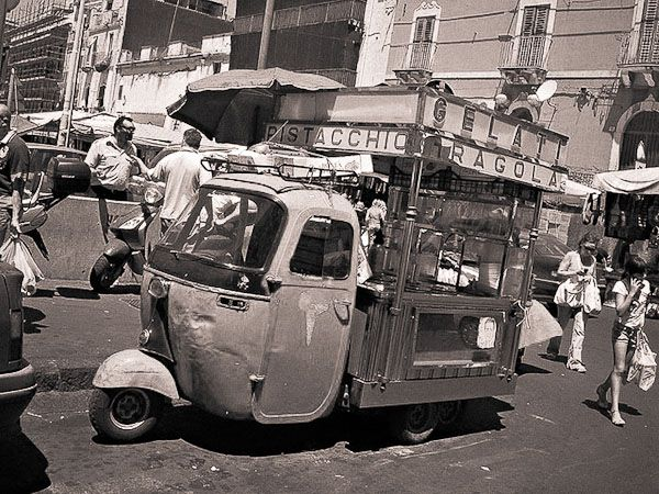 Vintage Gelati cart from Italy