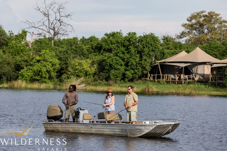 DumaTau is situated close to the source of the Savute Channel on Osprey Lagoon and each tent has incredible views of the Linyanti River. #Safari #Africa #Botswana #WildernessSafaris