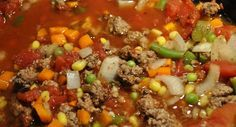 HoBo Stew with Ground Beef. A quicker alternative is using soup vegetables, chopped onion, and chopped pepper mixture in the frozen section. $$