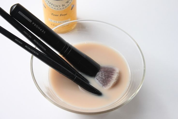 How to clean your makeup brushes: Fill a small bowl with 1 cup of lukewarm water Add 1 tsp of baby shampoo ( I use Burts Bees Baby Bee Shampoo  Wash) Swirl your brushes in the mixture and use your fingers to gently clean each brush Rinse your brushes in lukewarm water to remove any soapy residue Reshape your brushes and lay flat to dry      Have you seen the new promotion Real Techniques brushes makeup -$10    #realtechniques #realtechniquesbrushes #makeup #makeupbrushes #makeupartist…