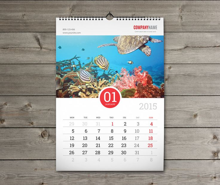 Calendar Design Templates Free Download : Print business wall calendar order now http